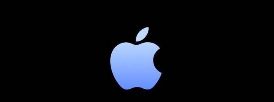 El logo de Apple en color Sierra Blue
