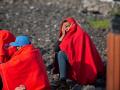 Un grupo de inmigrantes en la costa norte de Lanzarote, este mes de octubre