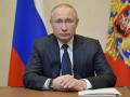 El presidente ruso, Vladímir Putin, durante una conferencia televisada en marzo de 2020