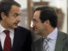 José Luís Rodríguez Zapatero y José Bono