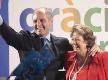 Francisco Camps, expresidente de la Generalitat valenciana, con Rita Barberá, exalcaldesa de Valencia