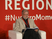 El expresidente de la Junta de Extremadura y Presidente de FUNDCERI, Juan Carlos Rodríguez Ibarra