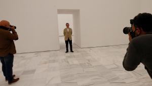 El director del Museo Reina Sofía, Manuel Borja-Villel en una de las salas de la nueva ampliación del museo
