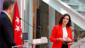 Pedro Sánchez e Isabel Díaz Ayuso en el encuentro que mantuvieron en septiembre de 2020