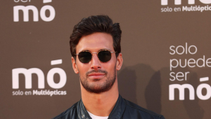 """Former soccerplayer Jaime Astrain attending """" Solo puede ser Mo """" event in Madrid on Thursday, 14 October 2021."""