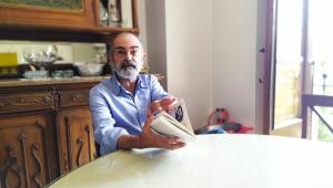 José Ángel González Sáinz conversando con Rocío Solís