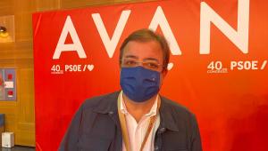 Guillermo Fernández Vara en el Congreso del PSOE