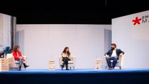 Los dos jóvenes escritores en la segunda jornada de Encuentro Madrid