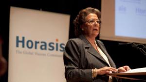 La exalcaldesa de Valencia Rita Barberá, en un acto en 2011