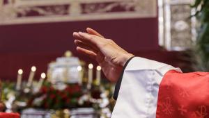 Momento de la consagración Eucarística en la Misa de beatificación en Córdoba