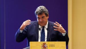 El ministro de la Seguridad Social, José Luis Escrivá, en rueda de prensa