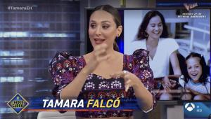 Tamara Falcó, durante su visita a El Hormiguero