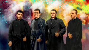 Francisco Cástor Sojo López, Millán Garde Serrano, Manuel Galcerá Videllet y Aquilino Pastor Cambero
