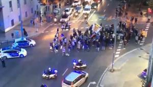 Los independentistas cortan el tráfico en Barcelona