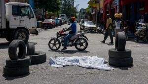 Actividad criminal en Puerto Príncipe, foto de archivo