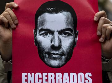 Protesta contra Pedro Sánchez durante el estado de alarma