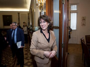 La fiscal general del Estado, y ex ministra de Justicia, Dolores Delgado