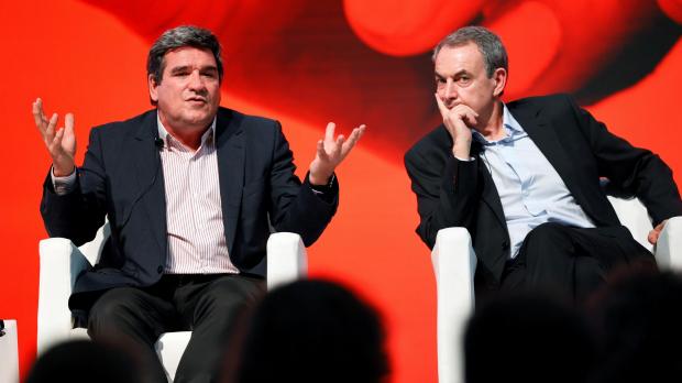 Zapatero y el ministro Escrivá.
