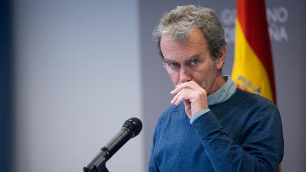 El director del CCAES, Fernando Simón, durante una rueda de prensa en abril