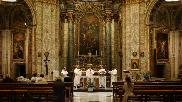 Celebración de la Eucaristía en Roma