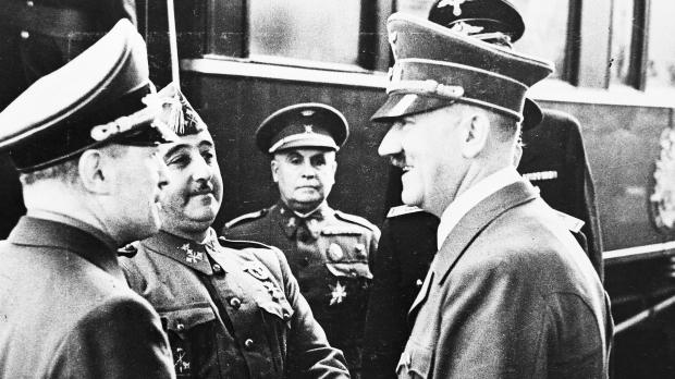 El saludo de Hitler y Franco en la Entrevista de Hendaya