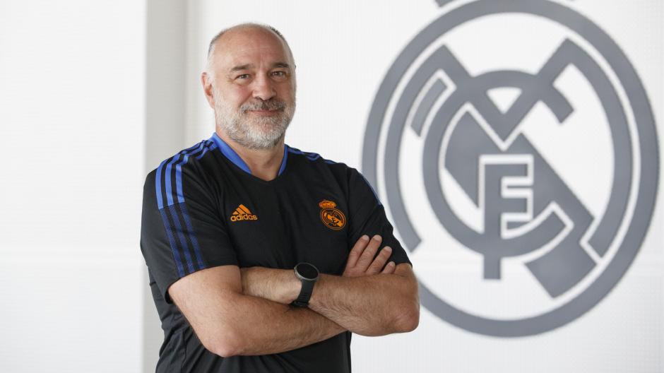 El entrenador del Real Madrid Baloncesto, Pablo Laso