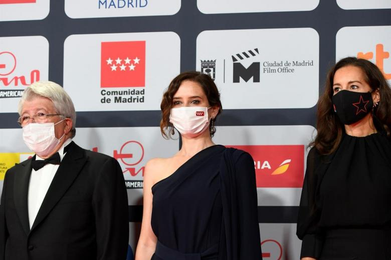 Isabel Díaz Ayuso en los premios Platino 2021