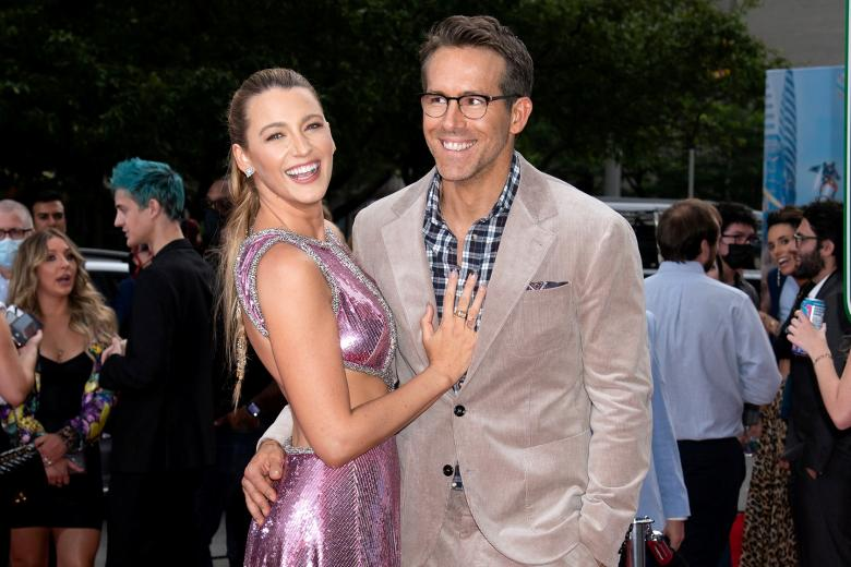 """Actors Ryan Reynolds and Blake Lively attending premiere of """"Free Guy""""  on Tuesday, Aug. 3, 2021, in New York."""