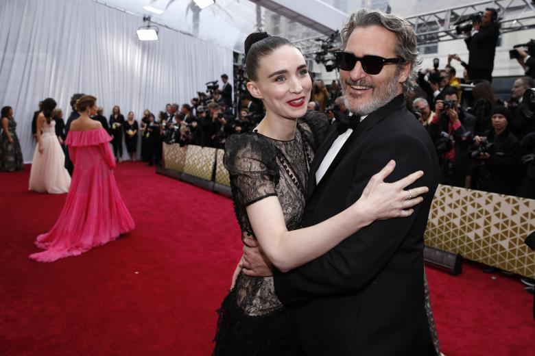 Actors Joaquin Phoenix and Rooney Mara at the 92nd Academy Awards in Hollywood, Los Angeles, California, U.S., February 9, 2020