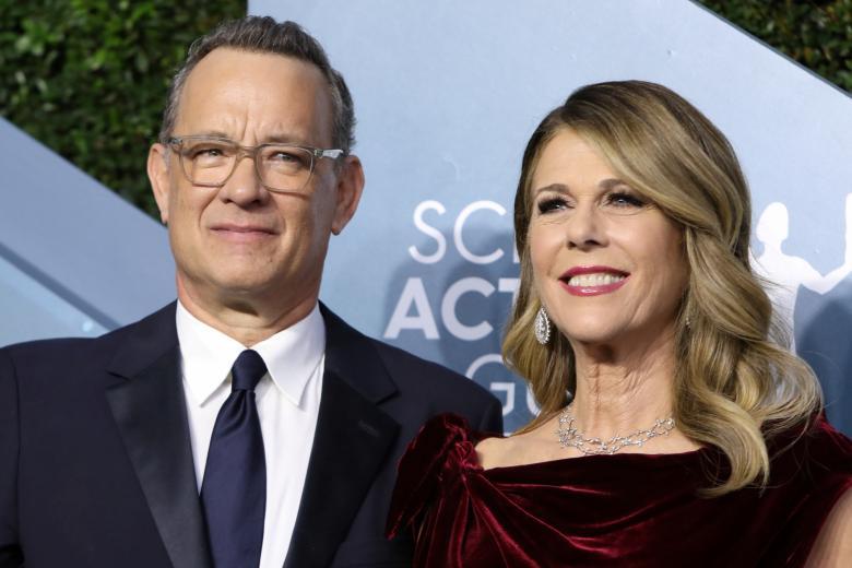 26th Screen Actors Guild Awards - Arrivals - Los Angeles, California, U.S., January 19, 2020 - Tom Hanks and Rita Wilson.  *** Local Caption *** .