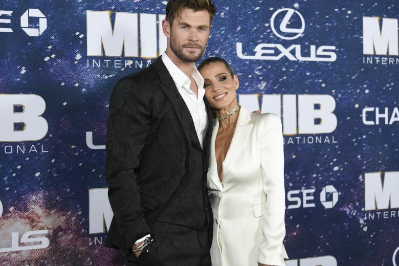 """Actor Chris Hemsworth and Elsa Pataky attend the world premiere of """"Men in Black: International""""  on Tuesday, June 11, 2019, in New York.  *** Local Caption *** ."""