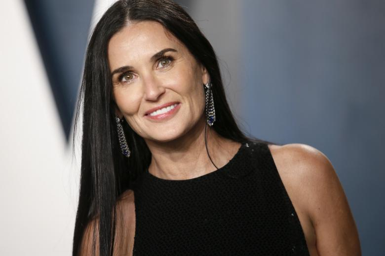 Actress Demi Moore attending the Vanity Fair Oscar Party 2020  on February 9, 2020 in Beverly Hills, CA.