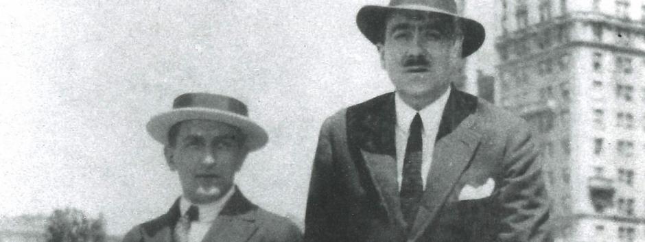 Francisco de Luis y marcelino oreja en nueva york en 1921