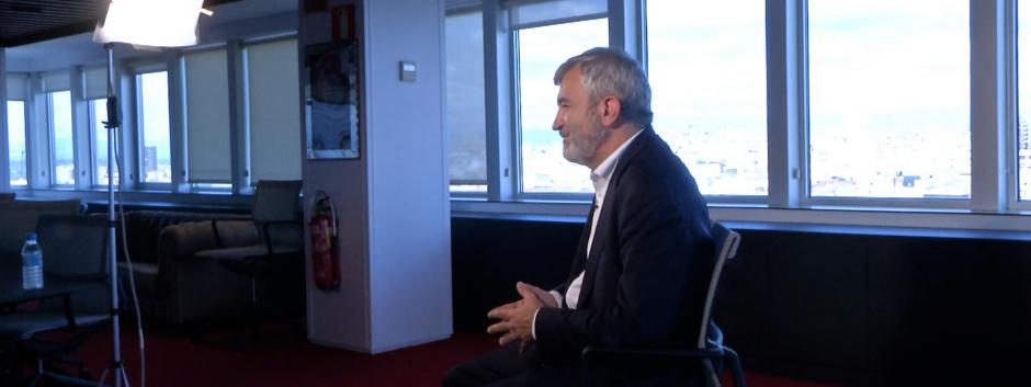 Luis Garicano, durante su entrevista con El Debate