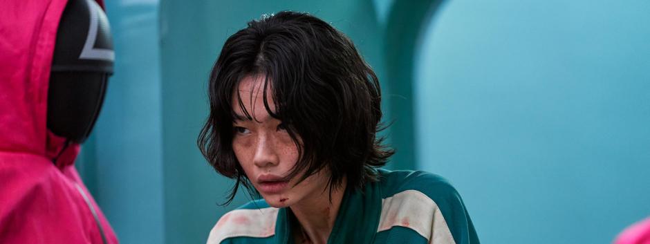 HoYeonJung en un fotograma de la serie de Netflix