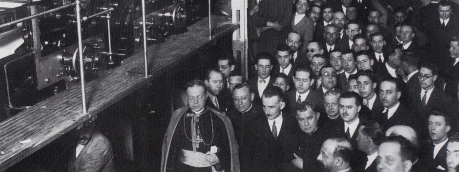 Inauguración rotativa El Debate Walter Scott. Febrero de 1934