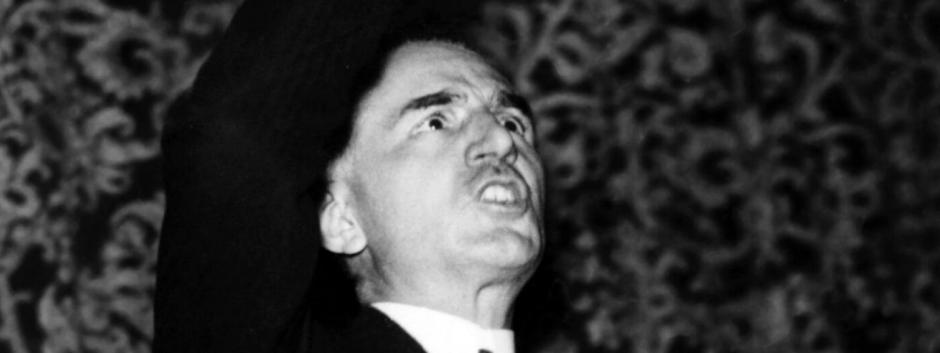Ángel Herrera en un mitin de Acción Católica en1934