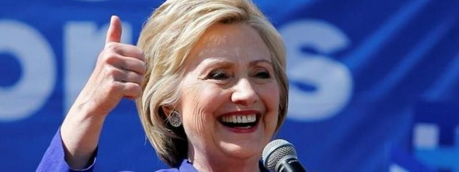 Hillary Clinton durante un mitin