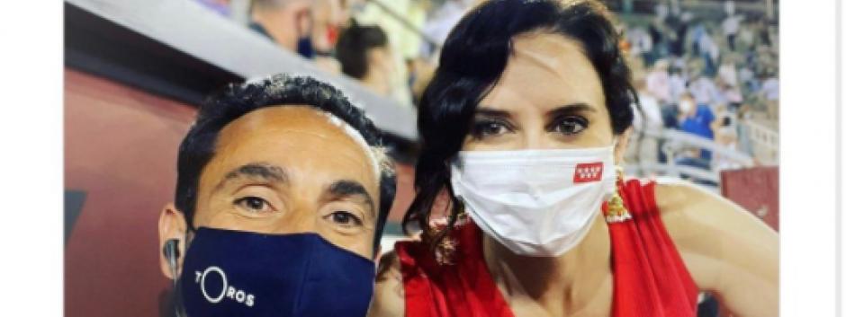 Foto de Isabel Díaz Ayuso censurada en Instagram