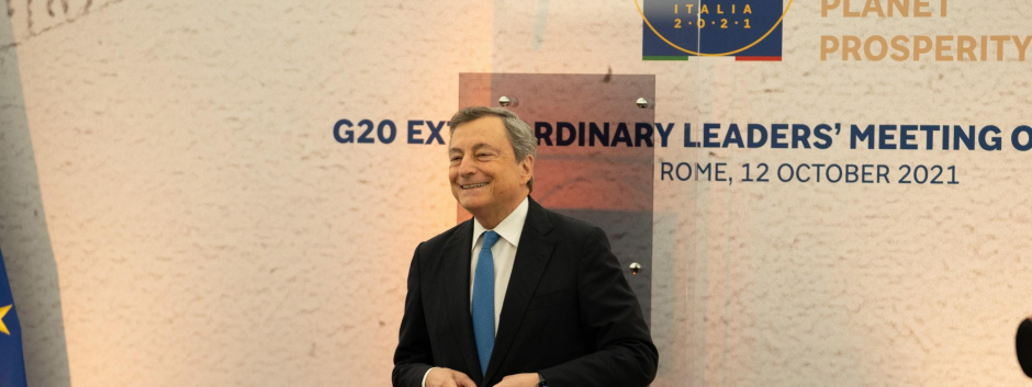Mario Draghi en el G20 del 12 de octubre