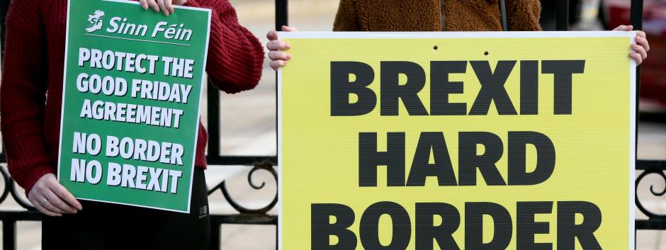 Manifestaciones en Irlanda contra el endurecimiento de la frontera