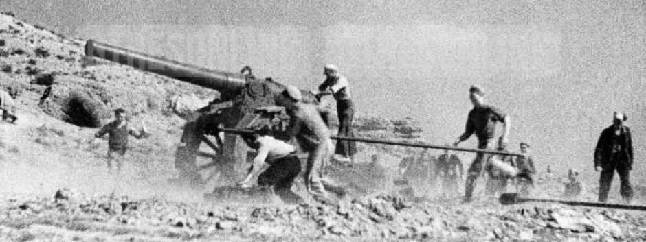 Imagen de una batalla en Teruel durante la Guerra Civil española, 1937