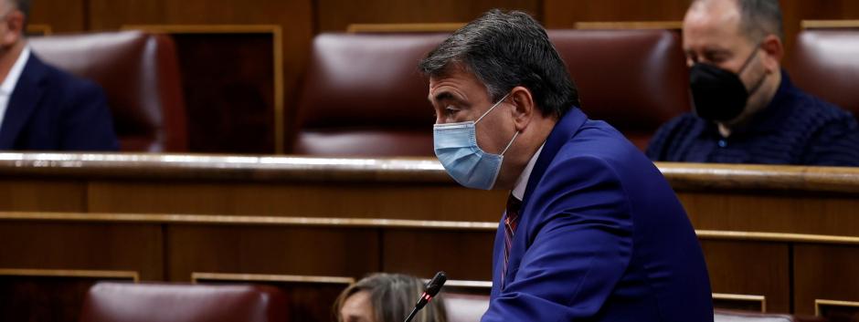 Aitor Esteban este miércoles en el Congreso.