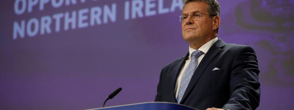 El vicepresidente de la Comisión de la UE, Maros Sefcovic, Bruselas