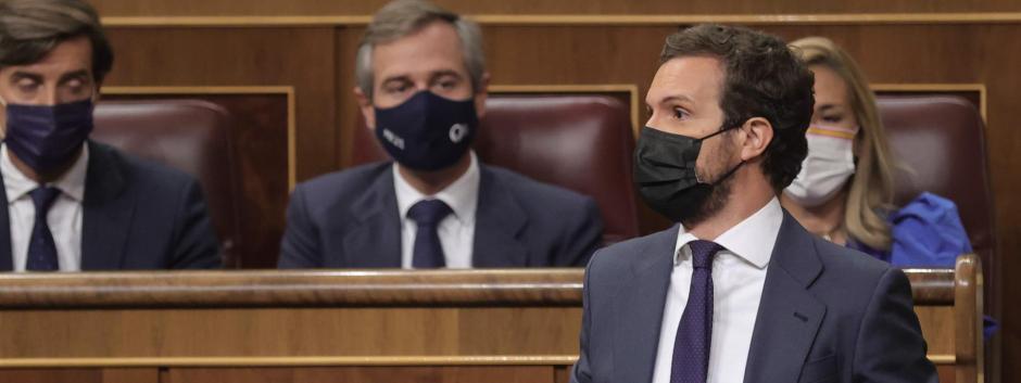 Pablo Casado en la sesión de control del Congreso