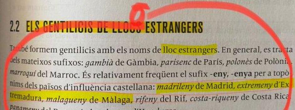 El polémico libro de 2º de ESO de lengua catalana