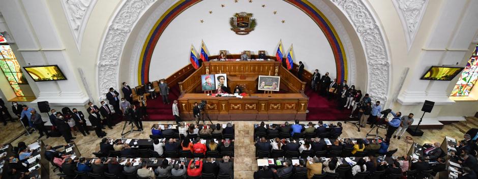 Imagen cenital del Parlamento de Venezuela