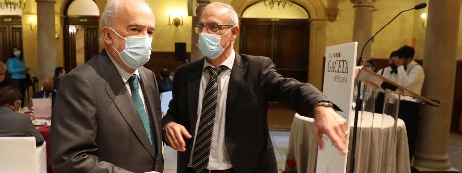 El director de la Real Academia Española (RAE), Santiago Muñoz Machado, a su llegada este jueves el Foro de la Gaceta de Salamanca del Español