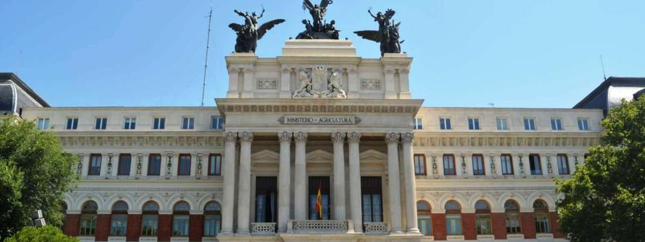 Palacio de Fomento, sede del ministerio de Agricultura