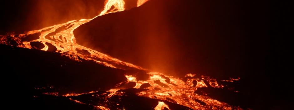 Volcán capturado desde Todoque